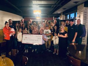 2019 Check Presentation to benefit the Carbone Cancer Center. We raised $22,358.98!